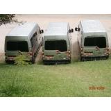 Qual o preço aluguel de vans executivas na Vila Frugol