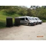 Transporte de vans no Capelinha