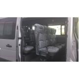 Van para transporte de passageiros na Chácara Sonho Azul